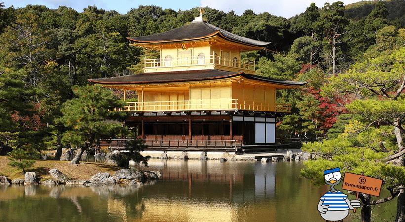 france japon visiter kyoto Kinkakuji pavillon or