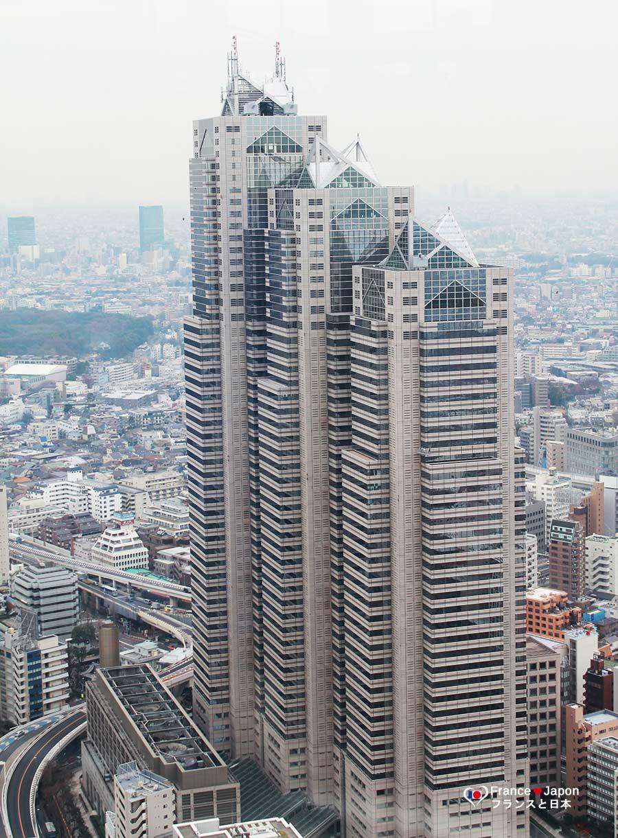 voyage japon tokyo vue visiter mairie tokyo shinjuku metropolitan government