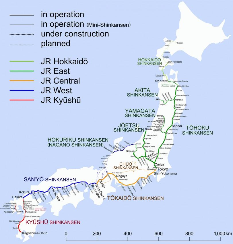plan du japon