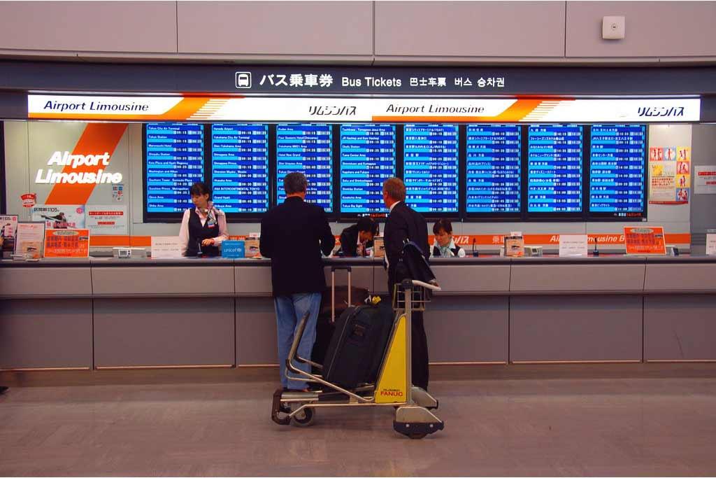 voyage japon Airport Limousine counter