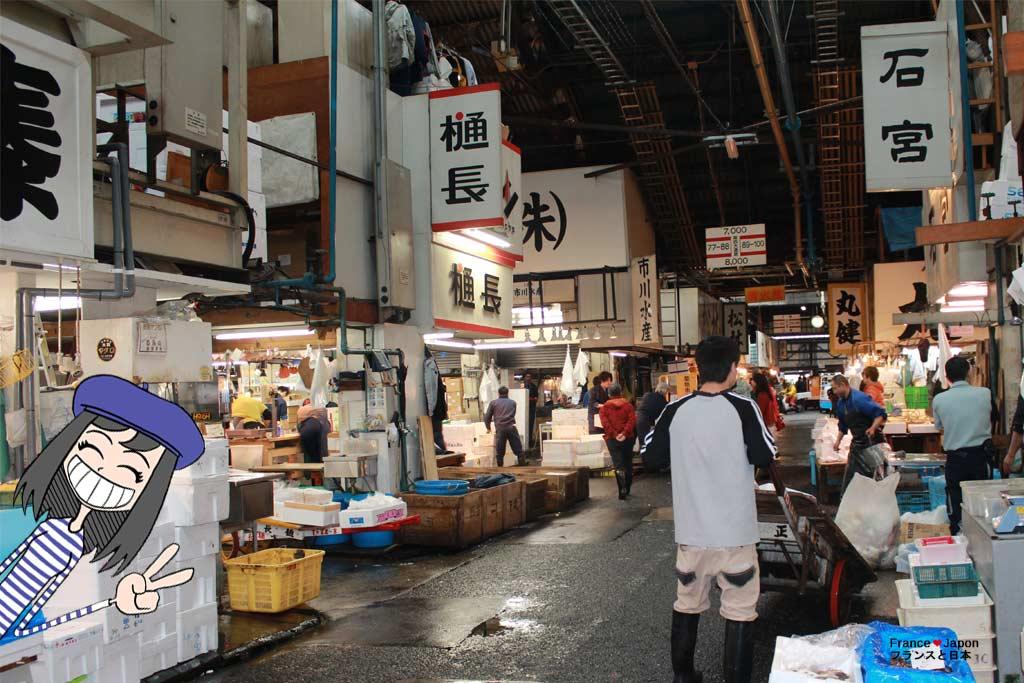 voyage japon tokyo visiter tsukiji le march aux poissons. Black Bedroom Furniture Sets. Home Design Ideas