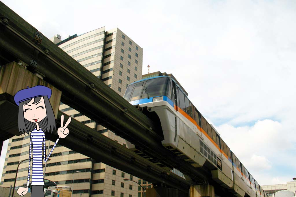 voyage japon aeroport japonais haneda monorail