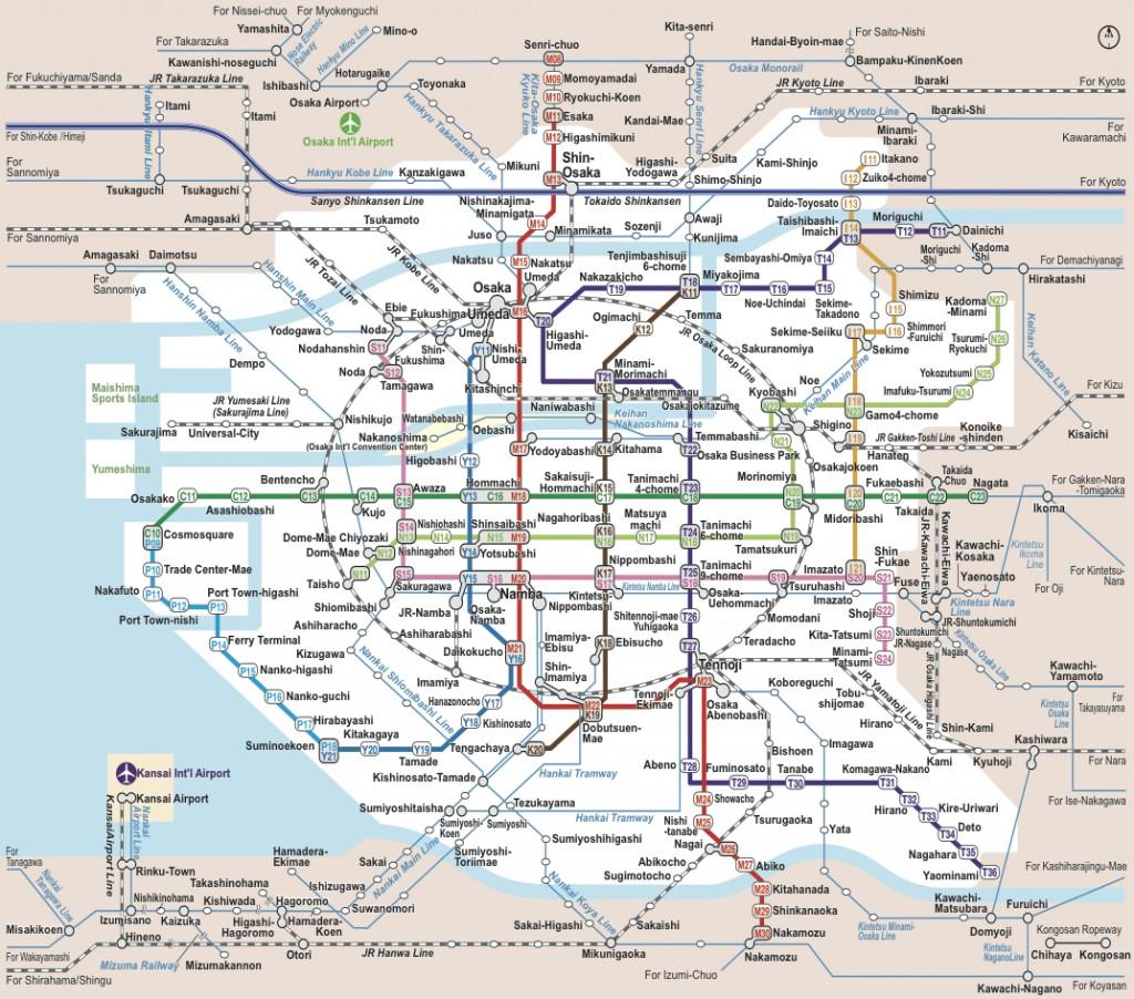 Plan De Ville De Kyoto