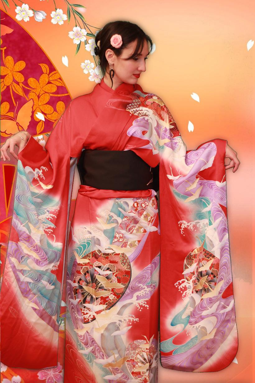 france japon petite francaise kimono seance photo