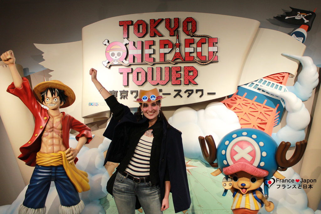 voyage japon tokyo roppongi : parc à theme One Piece à la tokyo tower