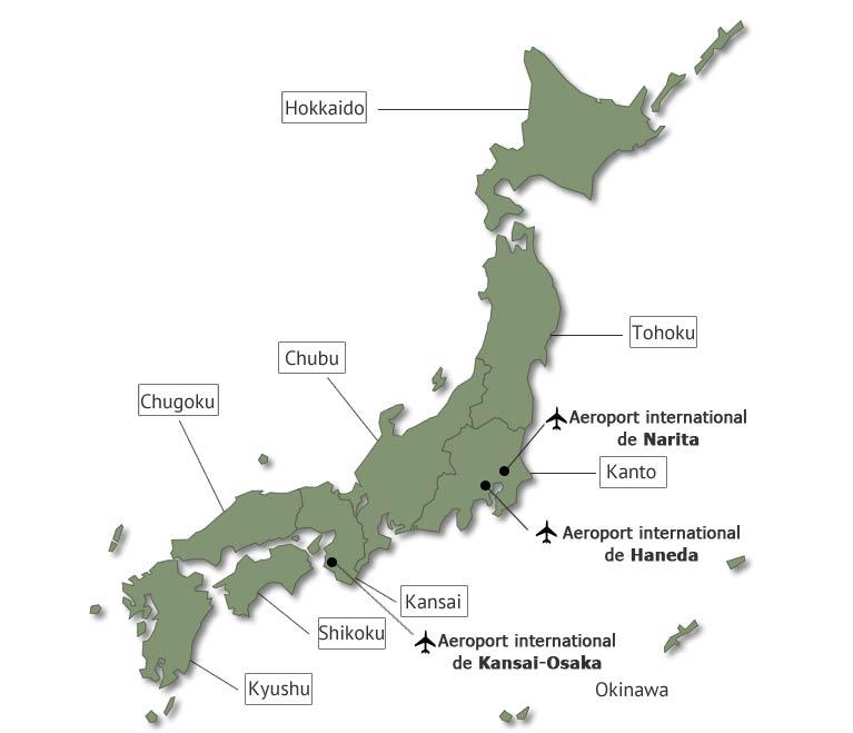 carte japon voyage